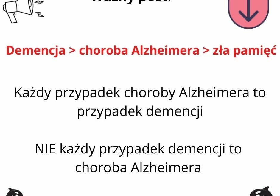 Różnica pomiędzy chorobą Alzheimera, demencja, a sklerozą